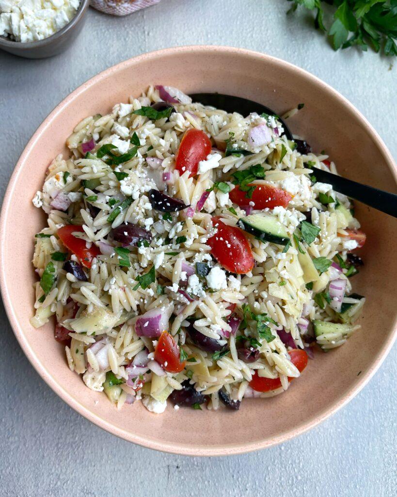 Mediterranean Orzo Salad Bowl