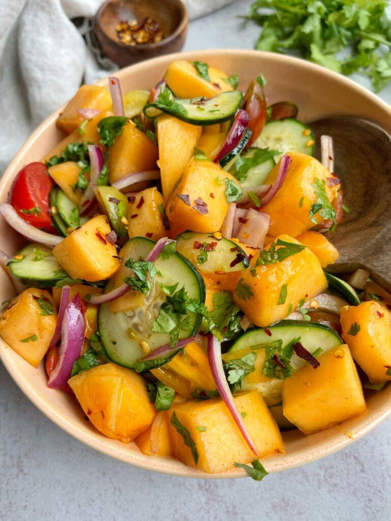 Cantaloupe Cucumber Summer Salad