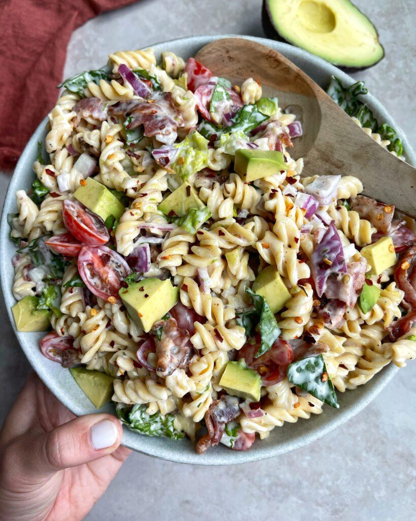 BLT Pasta Salad Bowl