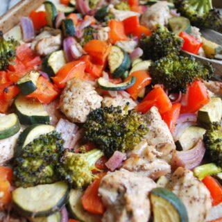 Balsamic Chicken and Veggies One Pan