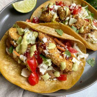 Air Fried Avocado Tacos