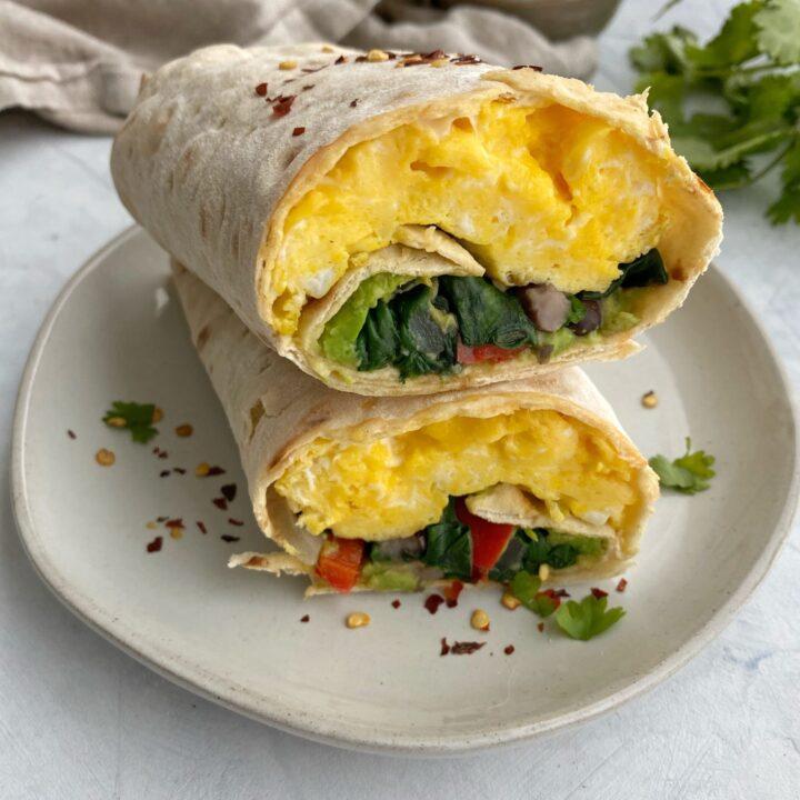 Breakfast Veggie Wrap