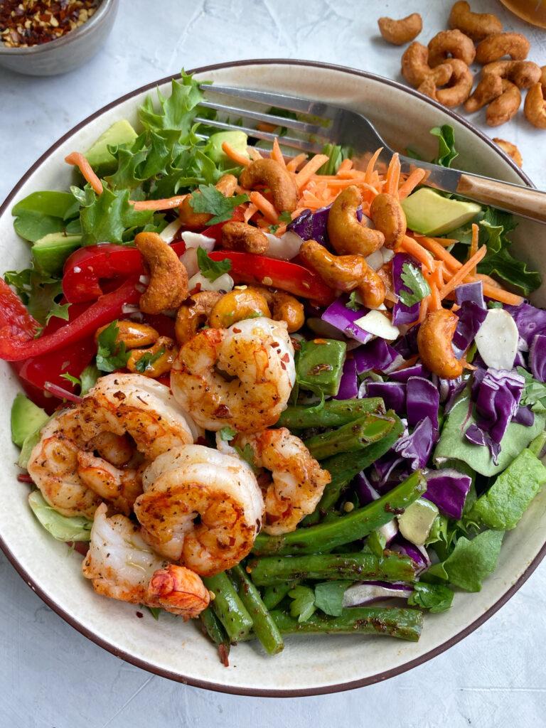 Thai Sesame Shrimp Salad Bowl