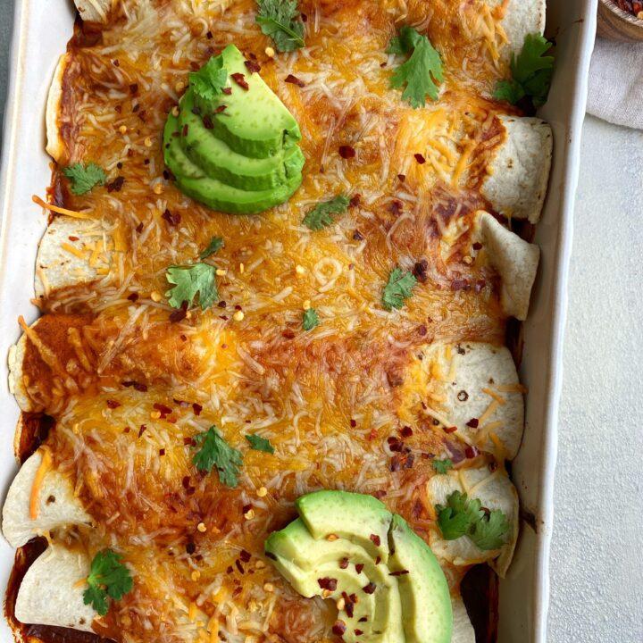 Butternut & Black Bean Enchiladas