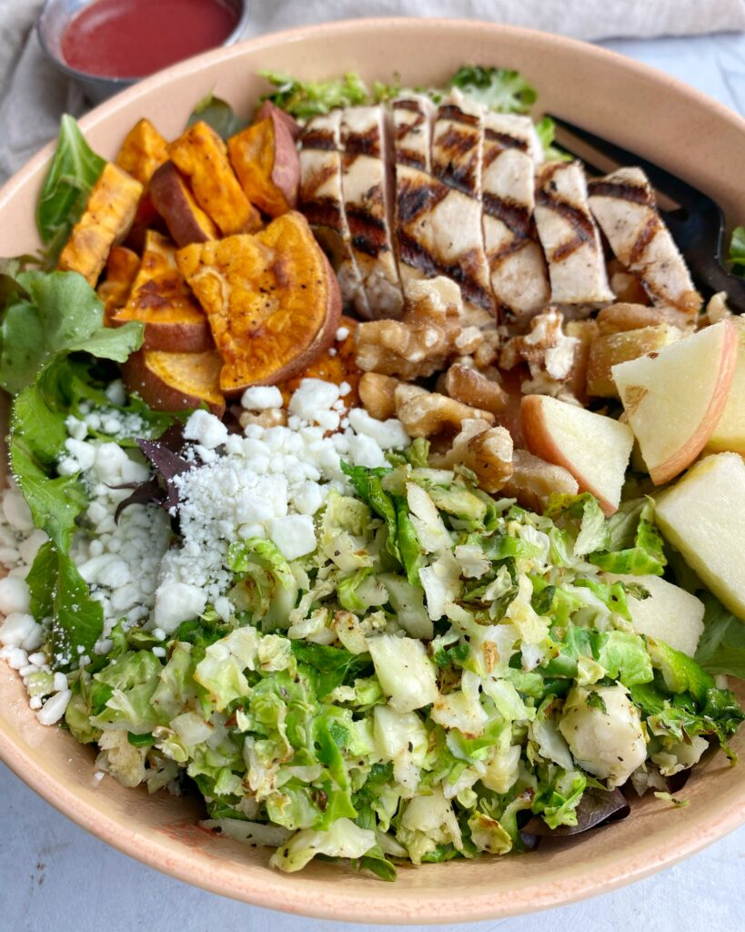 Chicken and Brussels Salad Bowl