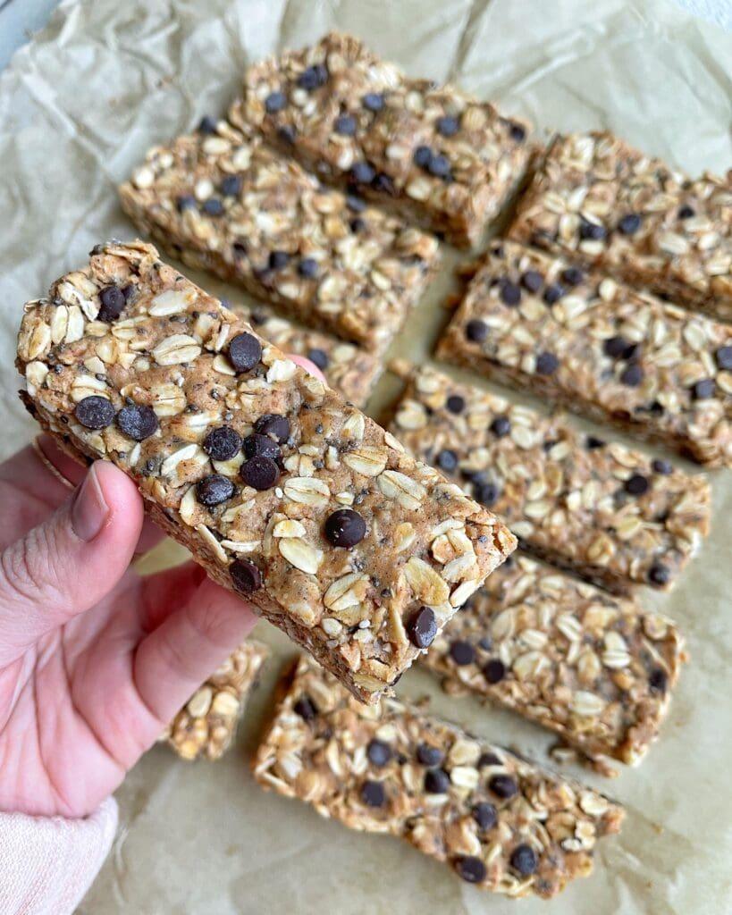 No Bake Peanut Butter Granola Bars