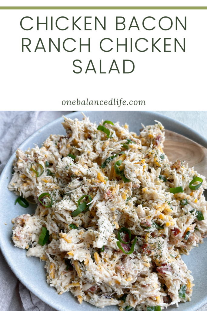Chicken Bacon Ranch Chicken Salad Pinterest