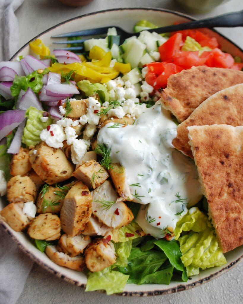 Mediterranean Salad with Tzatziki