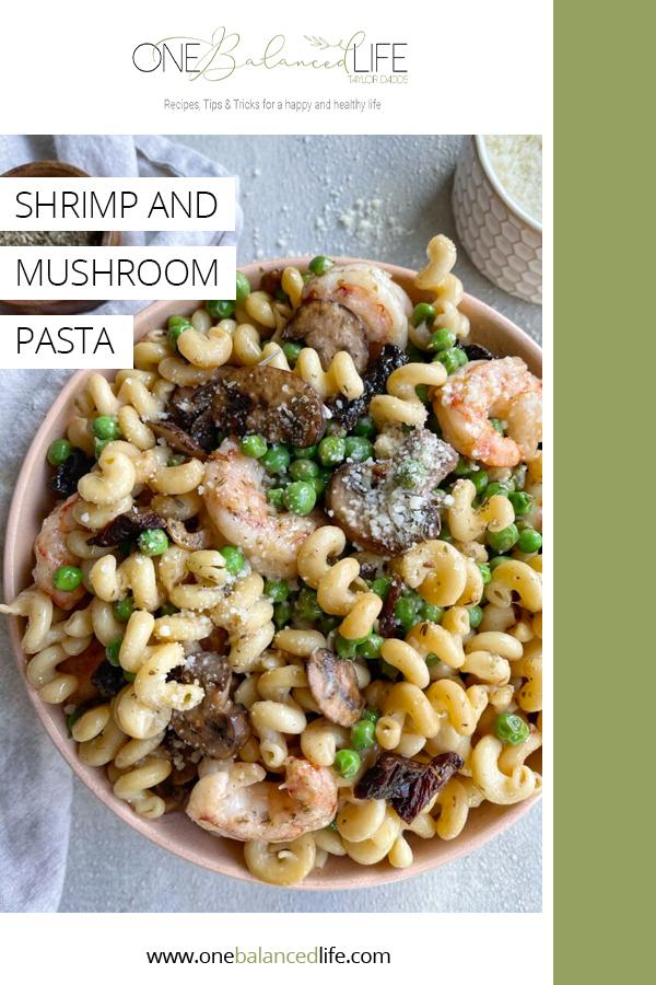 Shrimp and Mushroom Pasta Pinterest