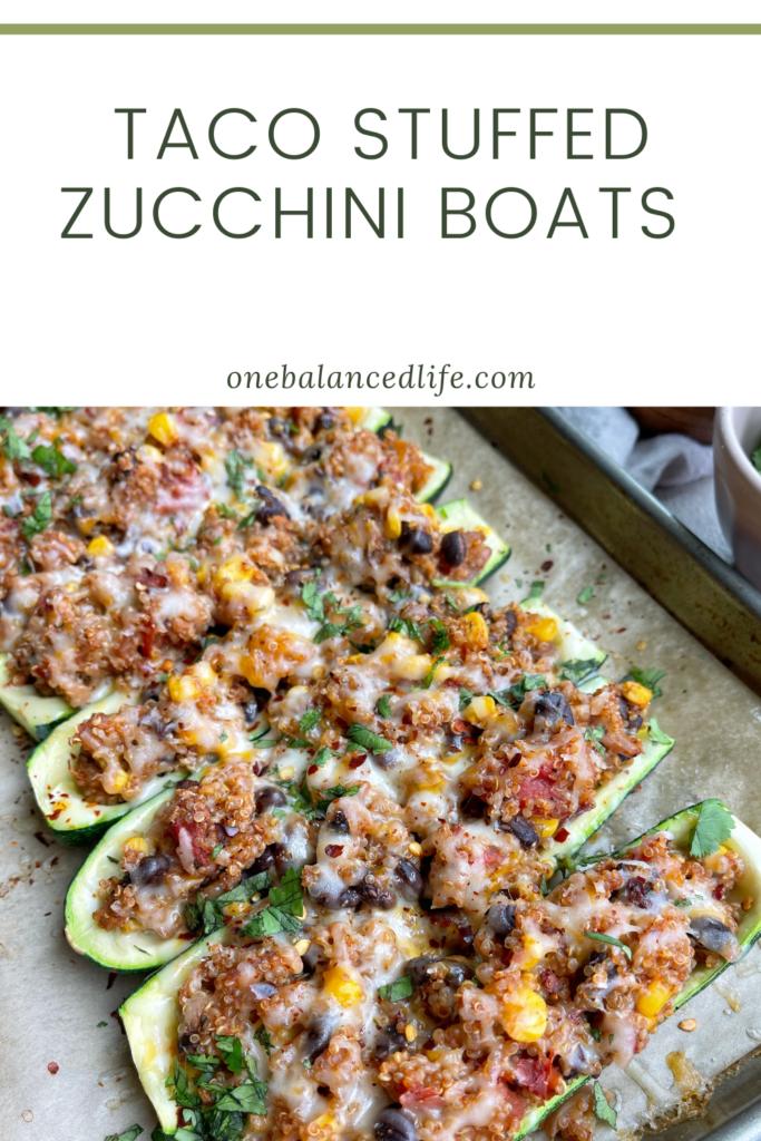Taco Stuffed Zucchini Boats Pinterest