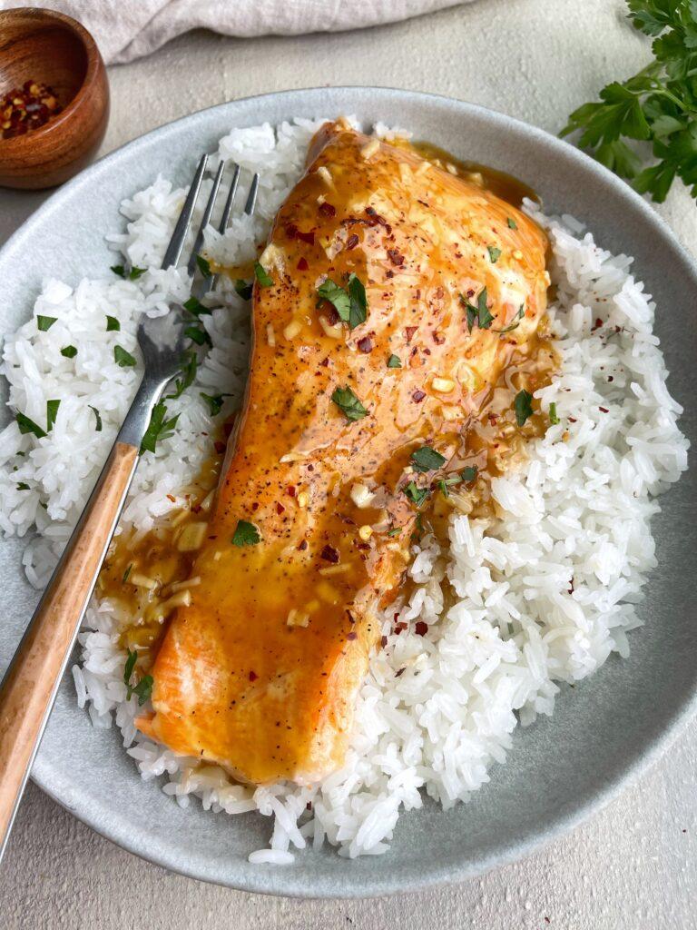 Honey Orange Salmon with Jasmine Rice