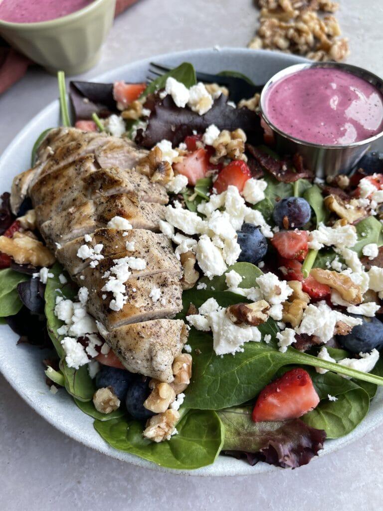 Summer Berry Chicken Salad Bowl