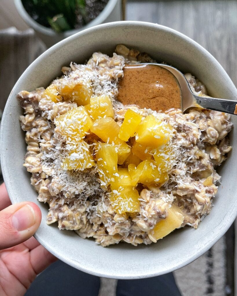 Tropical Overnight Oats Bowl