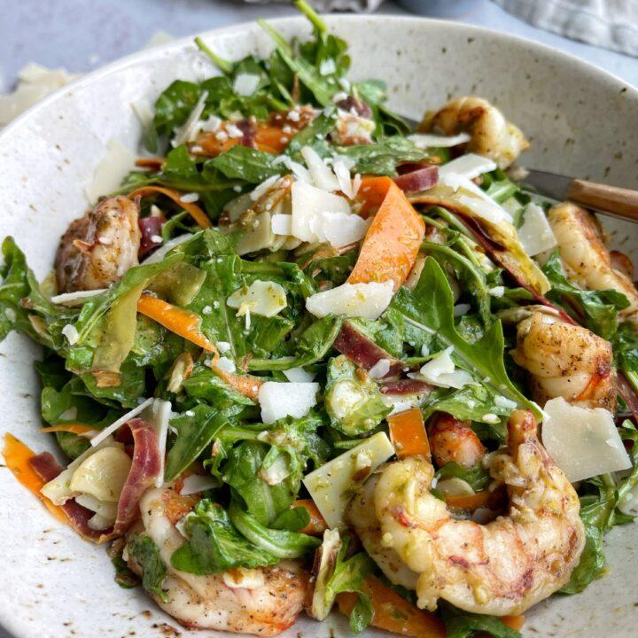 Lemon Arugula Shrimp Salad