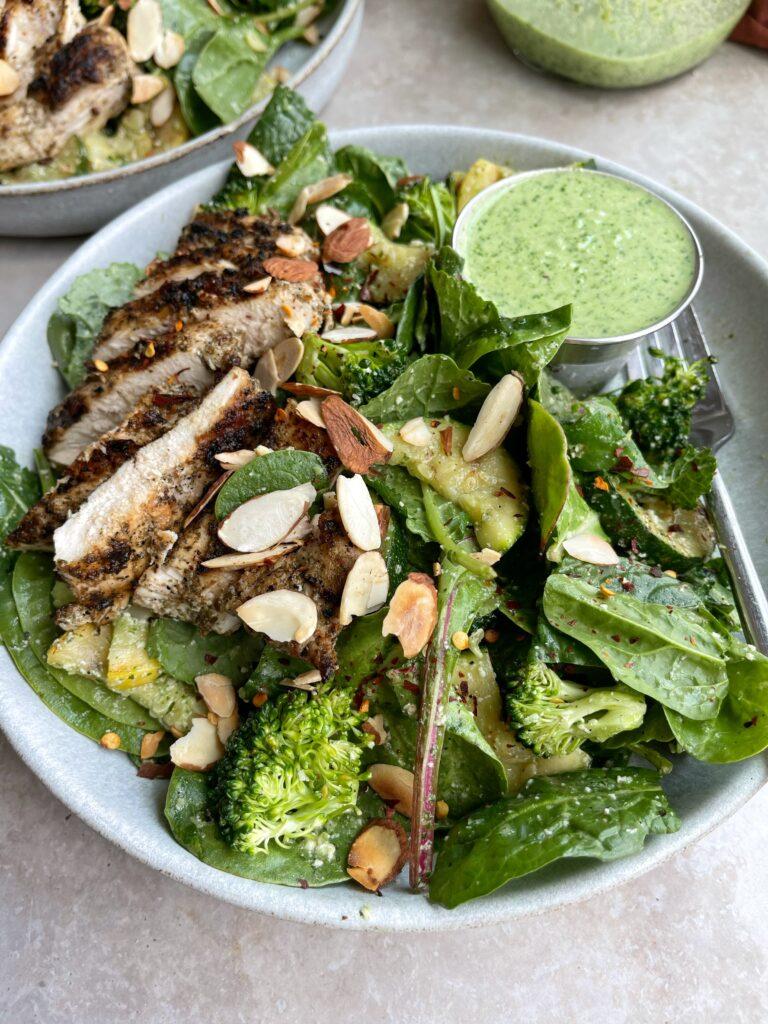 Pesto Power Greens Salad