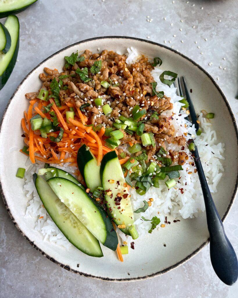Thai Pork Rice Bowls