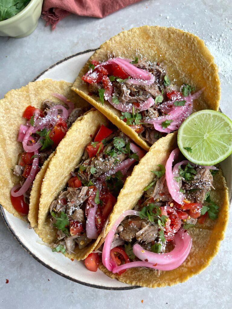 Shredded Lamb Tacos